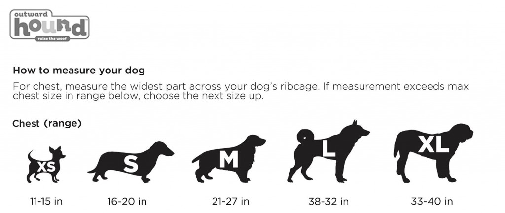 Dog Life Jacket Measuring Chart